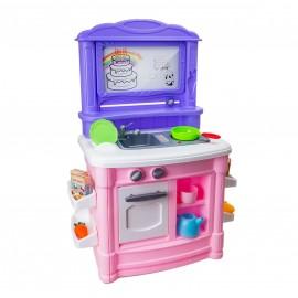 Детский игровой набор кухни Стойка (свет,звук,спрей)  52х26х75 см
