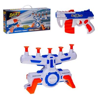 Пистолет с мягкими пулями и мишенью (муз)  53х12х25,6 см