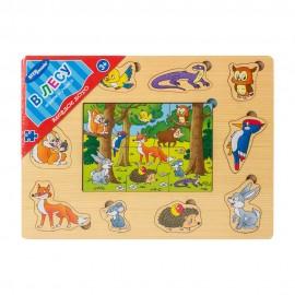 """Игра из дерева """"Весёлое лото. В лесу"""""""