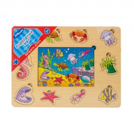 Игра из дерева Веселое лото. Подводный мир