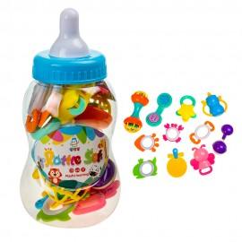 Подарочный набор погремушек в бутылочке Соска 11 шт