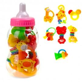 Подарочный набор погремушек в бутылочке Соска 7 шт