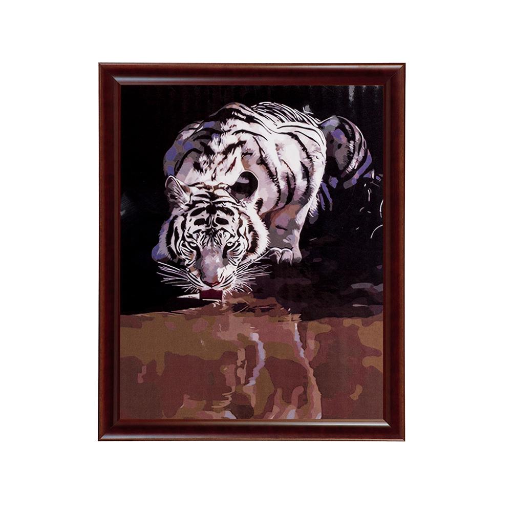 """Раскраска по номерам """" Белый тигр у водопоя"""" 40х50 см ..."""
