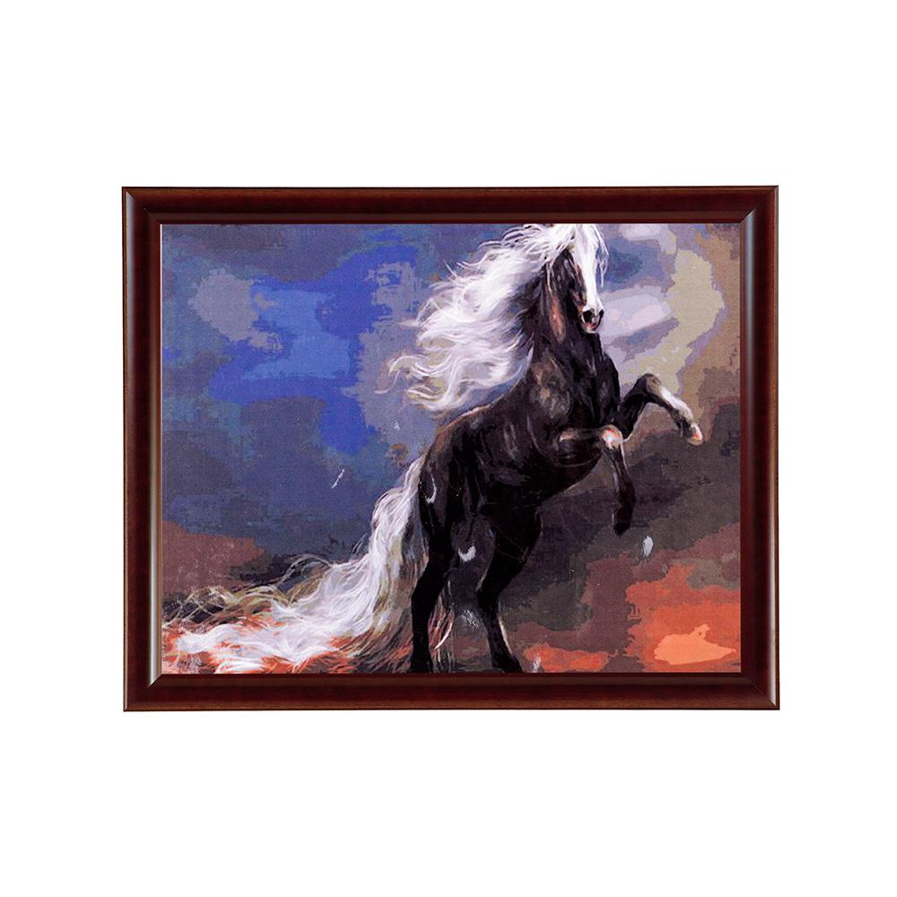 """Раскраска по номерам """"Чёрный конь """" 40х50 см - купить в ..."""