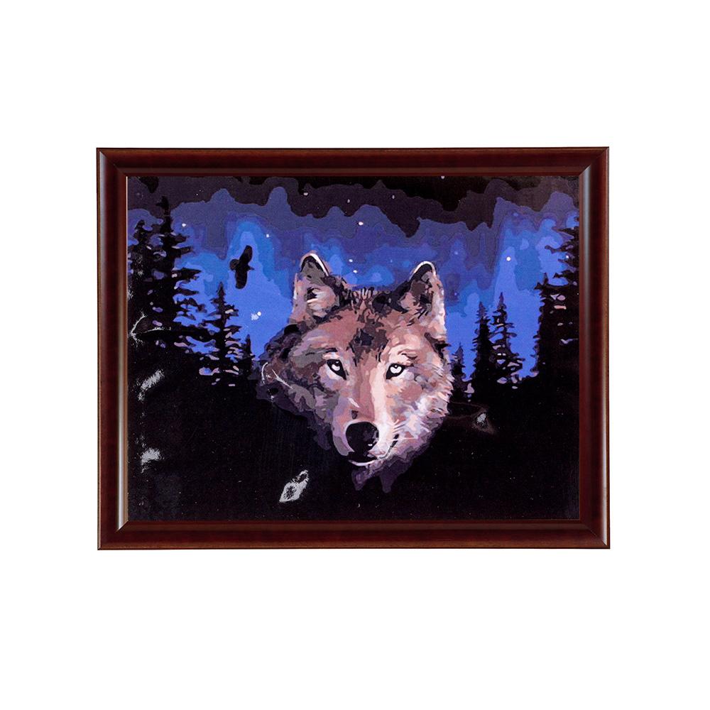 """Раскраска по номерам """" Волк"""" 40х50 см - купить в ..."""